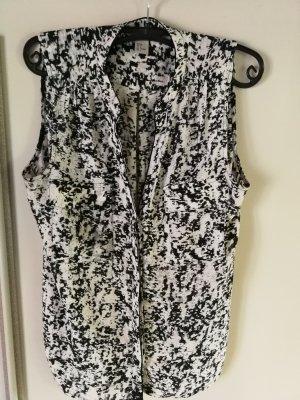 Schwarzweiße Bluse von H&M Größe 38