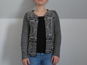 Schwarzweißer H&M Woll Blazer