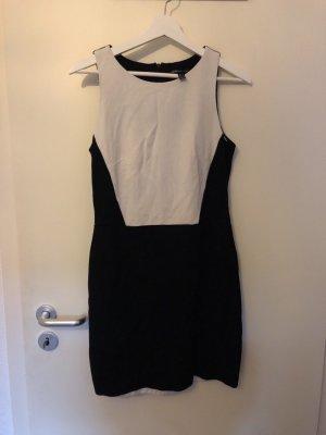 Mango Pencil Dress black-white