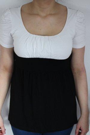 schwarzweißes Tshirt mit Puffärmeln