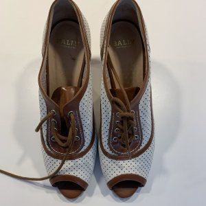 BALLY SUISSE High Heels brown-white leather