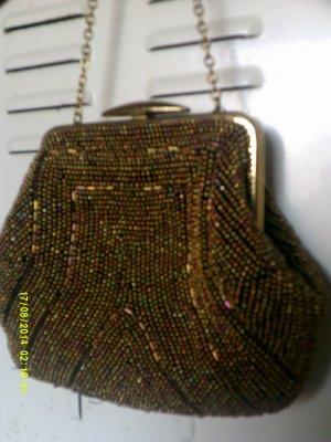 Vintage Mini Bag gold-colored glas