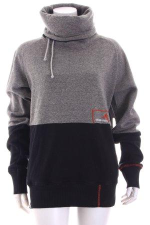 Schwerelosigkite Sweatshirt grau-schwarz meliert sportlicher Stil