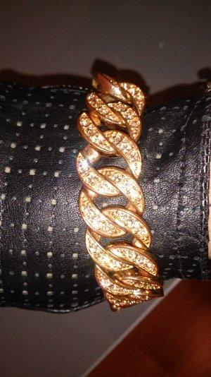 Schweres rosegoldfarbenes Gliederarmband