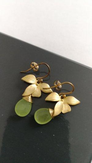 Schwestern Ohrringe mit mint-grünen Steinen