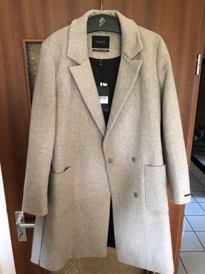 Scotch & Soda Abrigo de lana gris claro