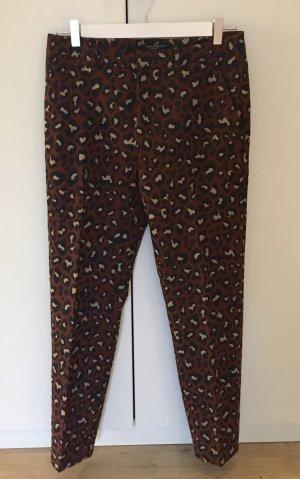 Scotch & Soda Pantalone a pieghe crema-marrone-rosso