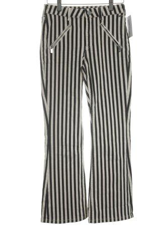 Scotch & Soda Boot Cut Jeans schwarz-hellbeige Streifenmuster extravaganter Stil