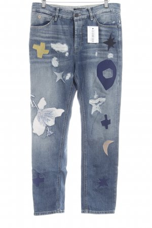 Scotch & Soda Boyfriend Jeans steel blue-dark yellow extravagant style