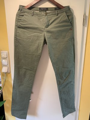 Scotch & Soda Pantalon chinos gris vert-kaki coton