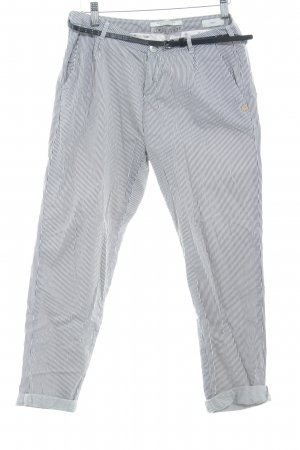 Scotch & Soda Chinohose weiß-dunkelgrau Streifenmuster Casual-Look