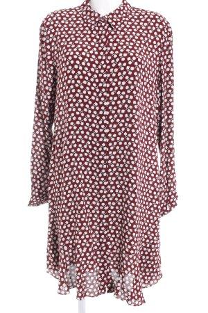 Scotch & Soda Hemdblusenkleid karminrot-weiß Blumenmuster Casual-Look