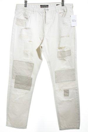 Scotch & Soda High Waist Jeans beige Destroy-Optik