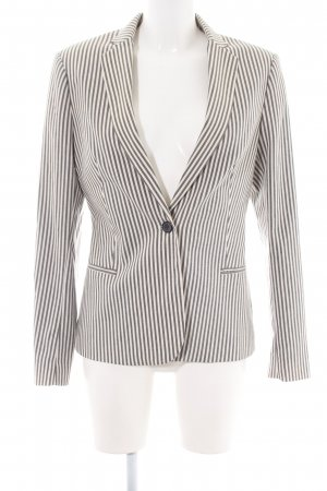 Scotch & Soda Jerseyblazer hellgrau-weiß Streifenmuster Business-Look