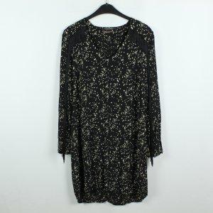 Scotch & Soda Vestido tipo blusón negro-blanco Viscosa