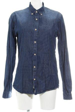 Scotch & Soda Langarm-Bluse dunkelblau Casual-Look