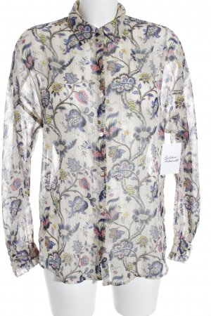 Scotch & Soda Langarm-Bluse florales Muster Casual-Look