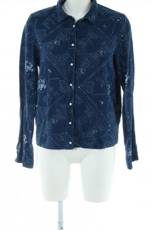 Scotch & Soda Langarmhemd blau Blumenmuster Casual-Look