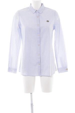 Scotch & Soda Langarmhemd weiß-blau Streifenmuster Business-Look