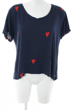 Scotch & Soda Oversized Shirt blue-red graphic pattern casual look