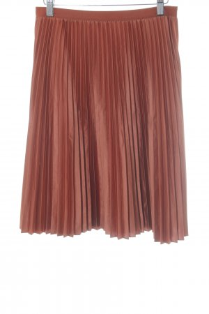 Scotch & Soda Pleated Skirt russet metallic look