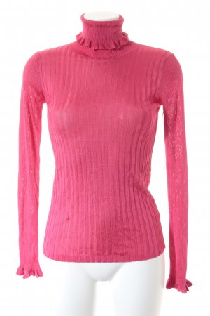 Scotch & Soda Turtleneck Shirt neon pink casual look