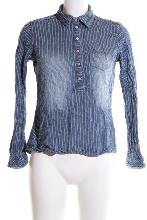 Scotch & Soda Schlupf-Bluse blau-weiß Streifenmuster Casual-Look