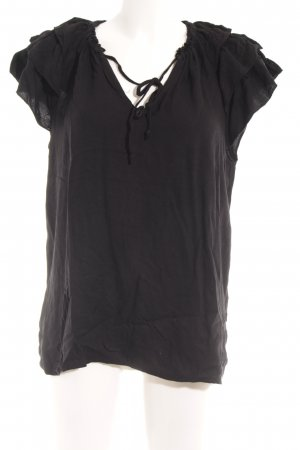 Scotch & Soda Schlupf-Bluse schwarz Casual-Look