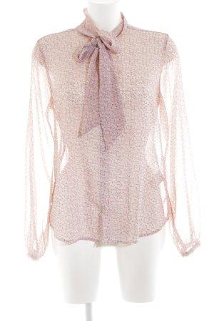Scotch & Soda Schluppen-Bluse pink-schwarz Allover-Druck Casual-Look
