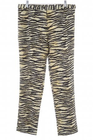 Scotch & Soda Stoffhose sandbraun-schwarz Animalmuster Animal-Look