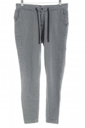 Scotch & Soda Pantalone fitness nero-bianco motivo astratto stile casual