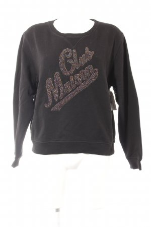 Scotch & Soda Sweatshirt schwarz Schriftzug gestickt Casual-Look