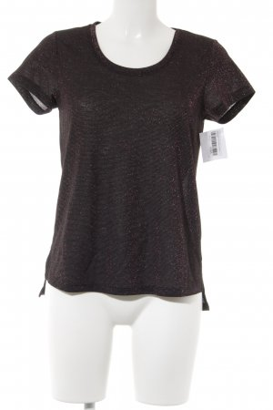 Scotch & Soda T-Shirt bordeauxrot-schwarz Glitzer-Optik
