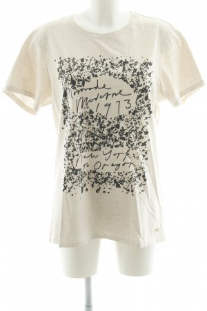 Scotch & Soda T-Shirt creme abstrakter Druck Casual-Look