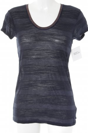 Scotch & Soda T-Shirt dunkelblau-bronzefarben Streifenmuster Street-Fashion-Look