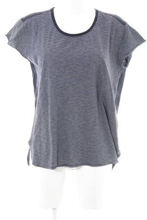 Scotch & Soda T-Shirt dunkelblau-weiß Streifenmuster Marine-Look