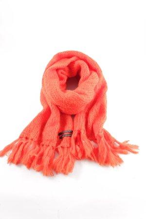 Scotch & Soda Écharpe en laine rouge torsades style extravagant