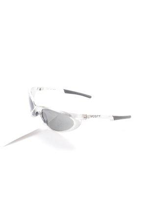 Scott ovale Sonnenbrille silberfarben-schwarz sportlicher Stil