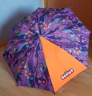 SCOUT Parapluie pliant orange fluo-violet foncé