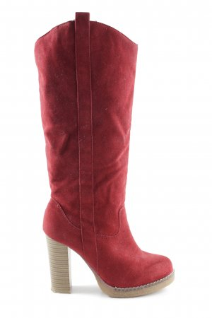 SDS Absatz Stiefel rot Casual-Look