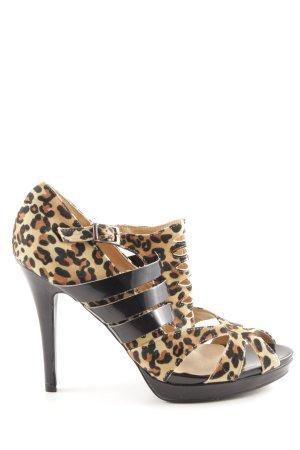 SDS High Heel Sandaletten Leomuster extravaganter Stil