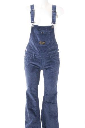Seafarer Salopette en jeans bleu acier style décontracté