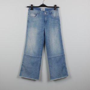 Jeans bootcut bleu coton