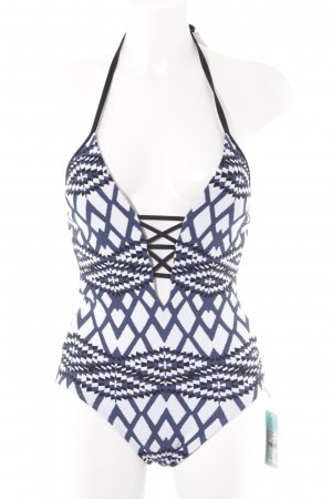 Seafolly Badeanzug grafisches Muster Beach-Look