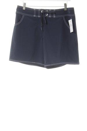 Seafolly Shorts de bain blanc-bleu foncé Look de plage