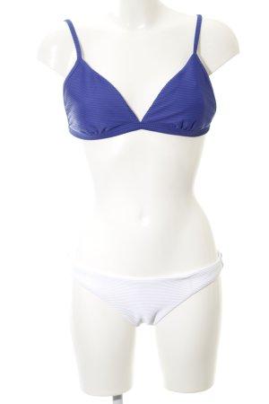 Seafolly Bikini blauw-wit Beach-look