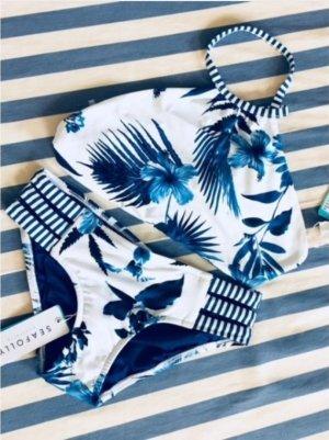 Seafolly Bikini wit-blauw