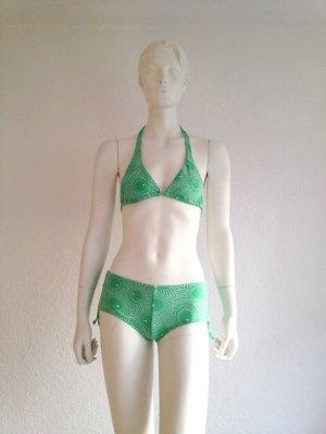 Seafolly Bikini Green White 70A Gr. 34 Used
