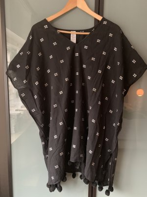 Seafolly V-Neck Shirt black-white