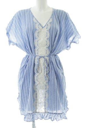 Seafolly Kurzarmkleid stahlblau-weiß Streifenmuster schlichter Stil